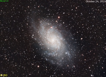 M33  94x30sec 10/24/19  ASI294C / RASA on MX+