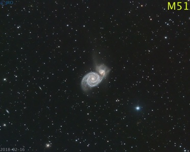 M51 2/16/18 43x 105sec subs  QHY367c on RASA