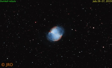 M27 in HOO 4 hours integration time Atik One 9.0 on WO81 on MX+